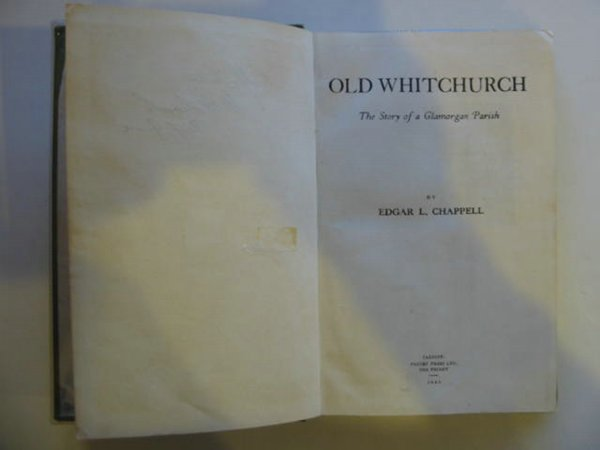 Photo of OLD WHITCHURCH written by Chappell, Edgar L. published by Priory Press Limited (STOCK CODE: 673515)  for sale by Stella & Rose's Books