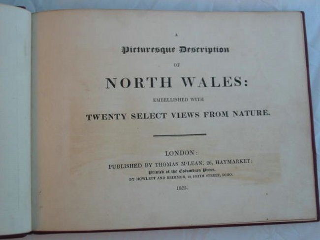 Photo of A PICTURESQUE DESCRIPTION OF NORTH WALES EMBELLISHED WITH TWENTY SELECT VIEWS FROM NATURE published by Thomas M'Lean (STOCK CODE: 681840)  for sale by Stella & Rose's Books