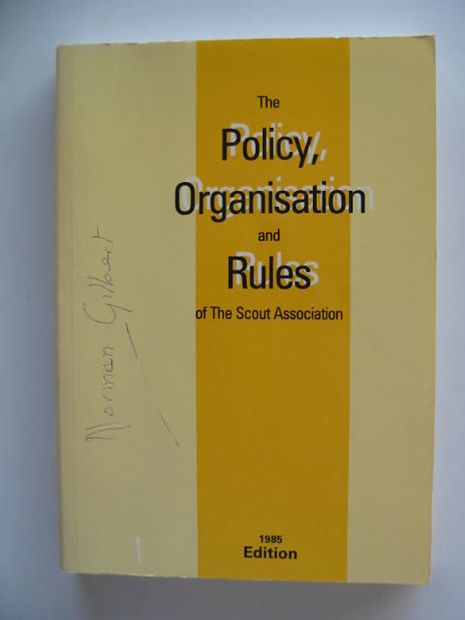 Photo of THE POLICY, ORGANISATION AND RULES OF THE SCOUT ASSOCIATION 1985 published by The Scout Association (STOCK CODE: 695996)  for sale by Stella & Rose's Books
