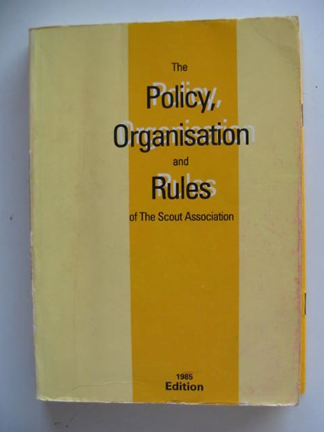 Photo of THE POLICY, ORGANISATION AND RULES OF THE SCOUT ASSOCIATION 1985 published by The Scout Association (STOCK CODE: 695997)  for sale by Stella & Rose's Books