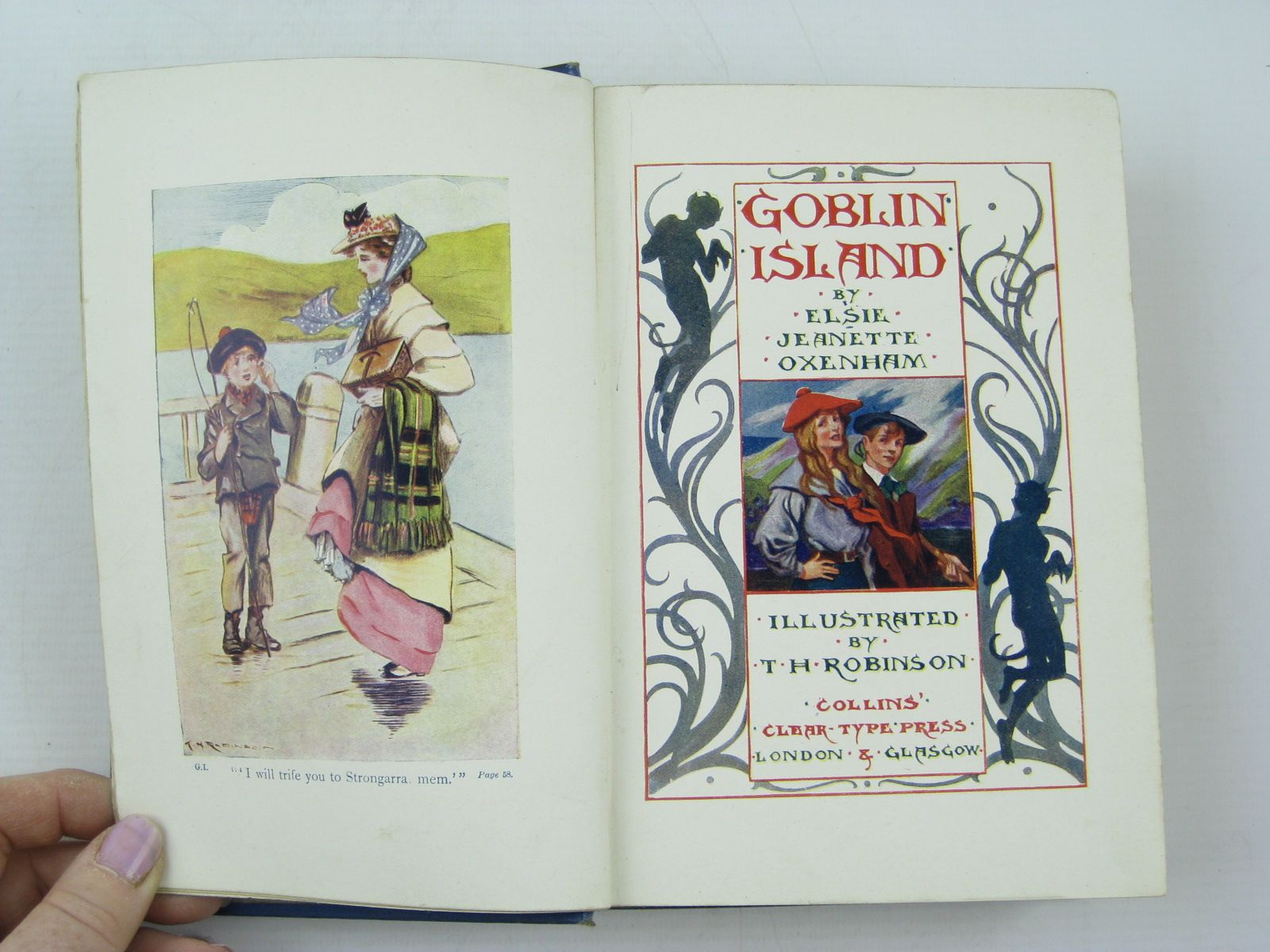 Photo of GOBLIN ISLAND written by Oxenham, Elsie J. illustrated by Robinson, T.H. published by Collins Clear-Type Press (STOCK CODE: 731273)  for sale by Stella & Rose's Books