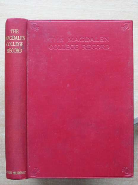 Photo of THE MAGDALEN COLLEGE RECORD 1934 written by Benecke, P.V.M. published by John Murray (STOCK CODE: 807703)  for sale by Stella & Rose's Books