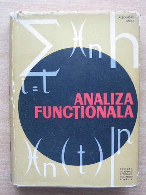 Photo of ANALIZA FUNCTIONALA written by Ghika, Alexandru published by Editura Academiei Republicii Socialiste Romania (STOCK CODE: 807761)  for sale by Stella & Rose's Books