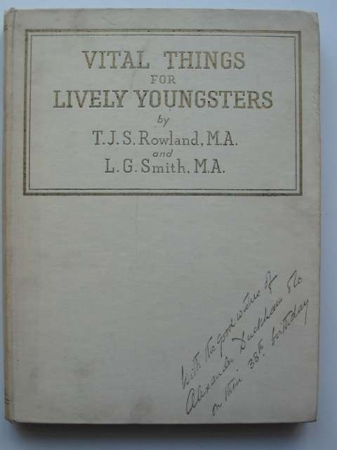 Photo of VITAL THINGS FOR LIVELY YOUNGSTERS written by Rowland, T.J.S.<br />Smith, L.G. illustrated by Rowland, T.J.S.<br />Smith, L.G. published by Cassell & Company Limited (STOCK CODE: 810990)  for sale by Stella & Rose's Books