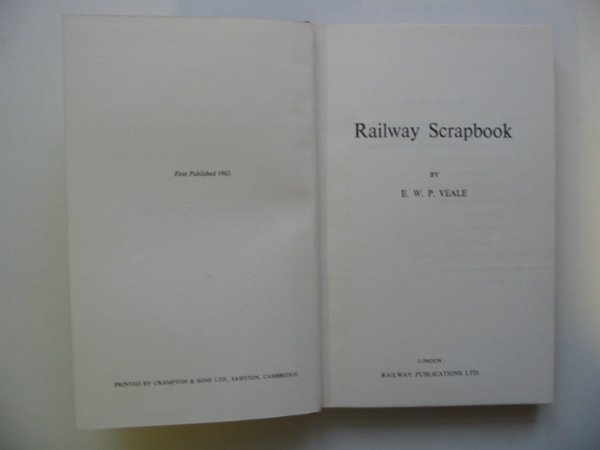 Photo of RAILWAY SCRAP BOOK written by Veale, E.W.P. published by Railway Publications (STOCK CODE: 811286)  for sale by Stella & Rose's Books
