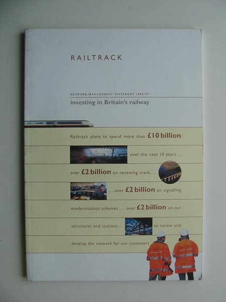Photo of RAILTRACK NETWORK MANAGEMENT STATEMENT 1996/97 published by Railtrack (STOCK CODE: 813257)  for sale by Stella & Rose's Books