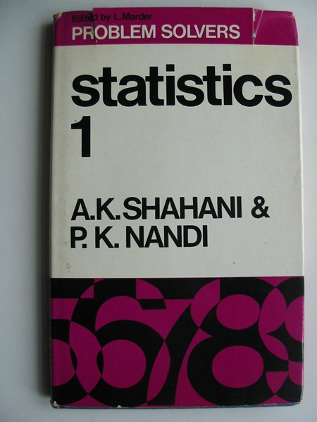 Photo of STATISTICS 1 written by Shahani, A.K.<br />Nandi, P.K. published by George Allen & Unwin Ltd. (STOCK CODE: 813729)  for sale by Stella & Rose's Books
