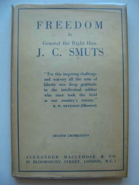 Photo of FREEDOM written by Smuts, J.C. published by Alexander Maclehose & Co. (STOCK CODE: 815435)  for sale by Stella & Rose's Books