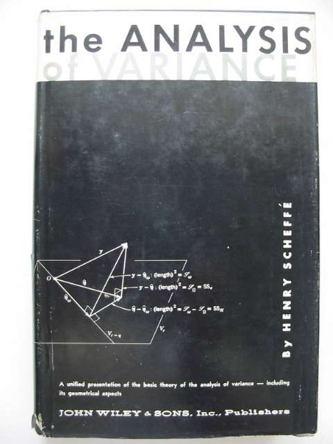 Photo of THE ANALYSIS OF VARIANCE written by Scheffe, Henry published by John Wiley & Sons (STOCK CODE: 816004)  for sale by Stella & Rose's Books
