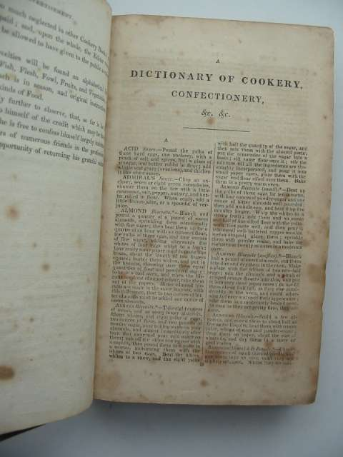 Photo of THE COOK'S DICTIONARY AND HOUSE-KEEPER'S DIRECTORY written by Dolby, Richard published by Henry Colburn, Richard Bentley (STOCK CODE: 816833)  for sale by Stella & Rose's Books