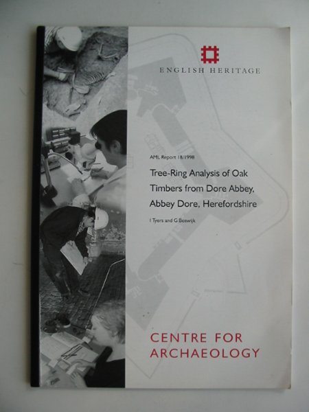 Photo of TREE-RING ANALYSIS OF OAK TIMBERS FROM DORE ABBEY, ABBEY DORE, HEREFORDSHIRE written by Tyers, I.<br />Boswijk, G. published by English Heritage (STOCK CODE: 817117)  for sale by Stella & Rose's Books