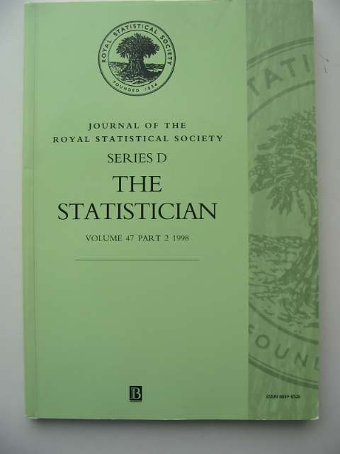 Photo of THE STATISTICIAN VOLUME 47 PART 2 1998 published by The Royal Statistical Society (STOCK CODE: 817365)  for sale by Stella & Rose's Books