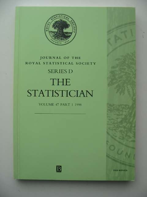Photo of THE STATISTICIAN VOLUME 47 PART 1 1998 published by The Royal Statistical Society (STOCK CODE: 817366)  for sale by Stella & Rose's Books