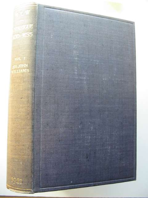 Photo of CATALOGUE OF MANUSCRIPTS Volume I written by Davies, John Humphreys published by The National Library of Wales (STOCK CODE: 818089)  for sale by Stella & Rose's Books