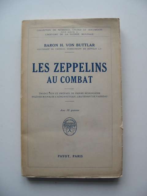 Photo of LES ZEPPELINS AU COMBAT written by Von Buttlar, H. published by Payot (STOCK CODE: 818627)  for sale by Stella & Rose's Books