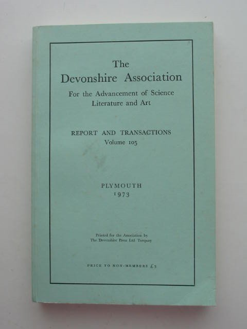Photo of THE DEVONSHIRE ASSOCIATION FOR THE ADVANCEMENT OF SCIENCE LITERATURE AND ART published by The Devonshire Press (STOCK CODE: 821567)  for sale by Stella & Rose's Books