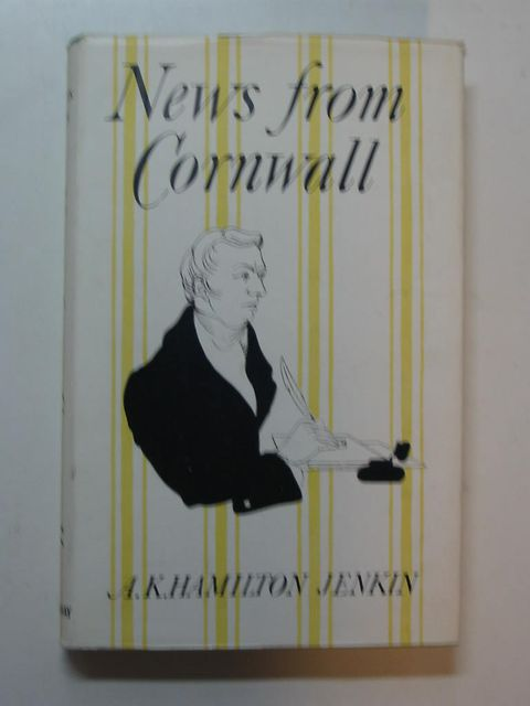 Photo of NEWS FROM CORNWALL written by Jenkin, A.K. Hamilton published by Westerway Books (STOCK CODE: 824065)  for sale by Stella & Rose's Books