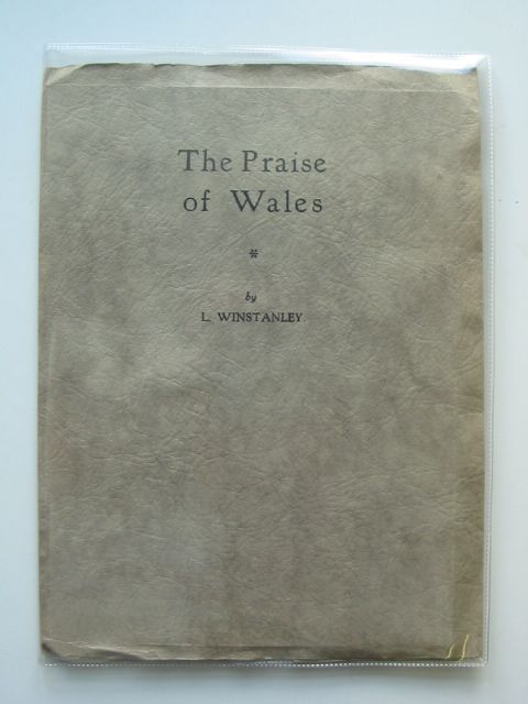 Photo of THE PRAISE OF WALES written by Winstanley, L. published by The Welsh Outlook Press (STOCK CODE: 985587)  for sale by Stella & Rose's Books