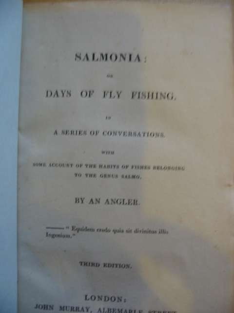 Photo of SALMONIA: OR DAYS OF FLY FISHING written by Davy, Humphry published by John Murray (STOCK CODE: 988552)  for sale by Stella & Rose's Books