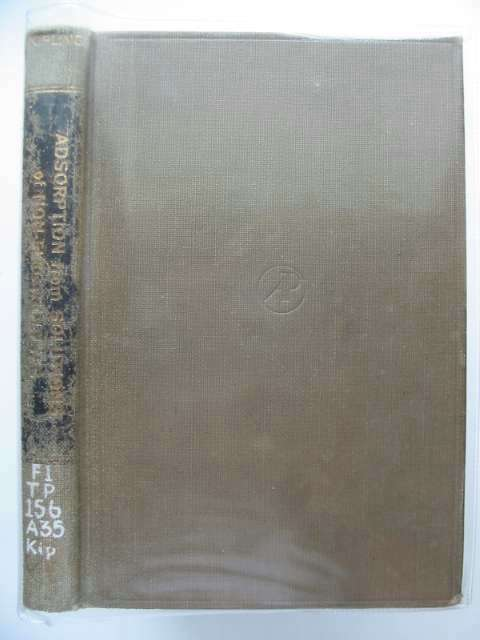 Photo of ADSORPTION FROM SOLUTIONS OF NON-ELECTROLYTES written by Kipling, J.J. published by Academic Press (STOCK CODE: 989434)  for sale by Stella & Rose's Books