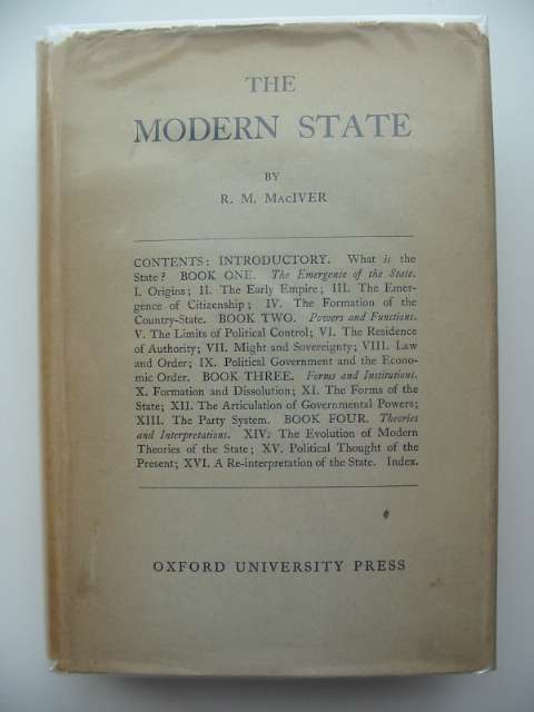 Photo of THE MODERN STATE written by MacIver, R.M. published by Oxford University Press (STOCK CODE: 989637)  for sale by Stella & Rose's Books