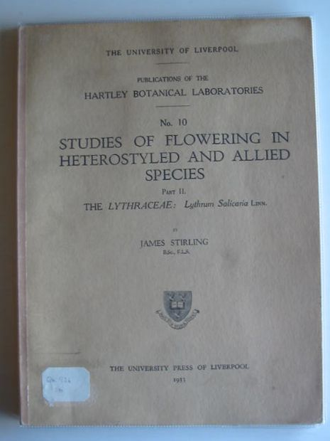 Photo of STUDIES OF FLOWERING IN HETEROSTYLED AND ALLIED SPECIES PART II written by Stirling, James published by University of Liverpool (STOCK CODE: 990132)  for sale by Stella & Rose's Books