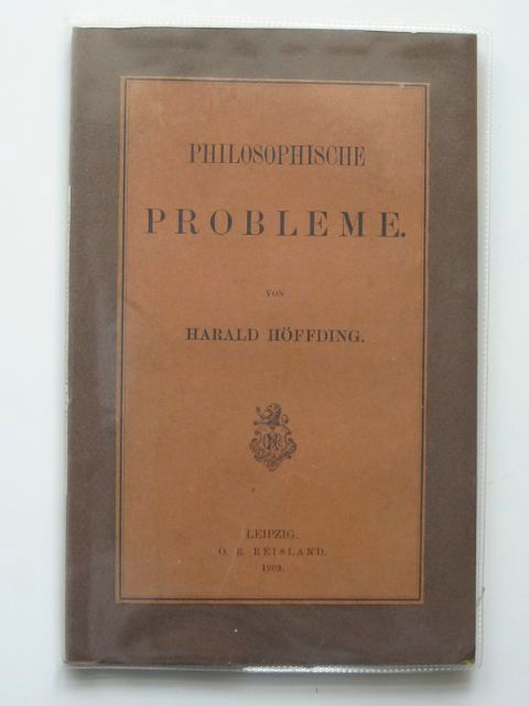 Photo of PHILOSOPHISCHE PROBLEME written by Hoffding, Harald published by O.R. Reisland (STOCK CODE: 990436)  for sale by Stella & Rose's Books
