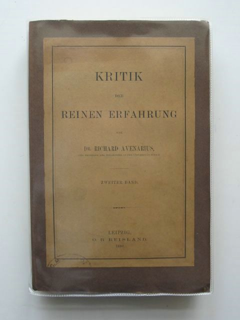 Photo of KRITIK DER REINEN ERFAHRUNG written by Avenarius, Richard published by O.R. Reisland (STOCK CODE: 990440)  for sale by Stella & Rose's Books