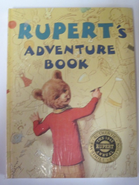 Cover of RUPERT ANNUAL 1940 (FACSIMILE) - RUPERT'S ADVENTURE BOOK by Alfred Bestall
