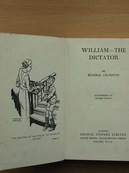 Cover of WILLIAM-THE DICTATOR by Richmal Crompton