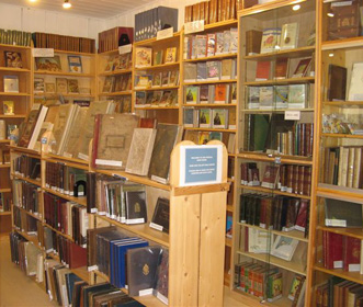 Special book room at Stella Books, Tintern
