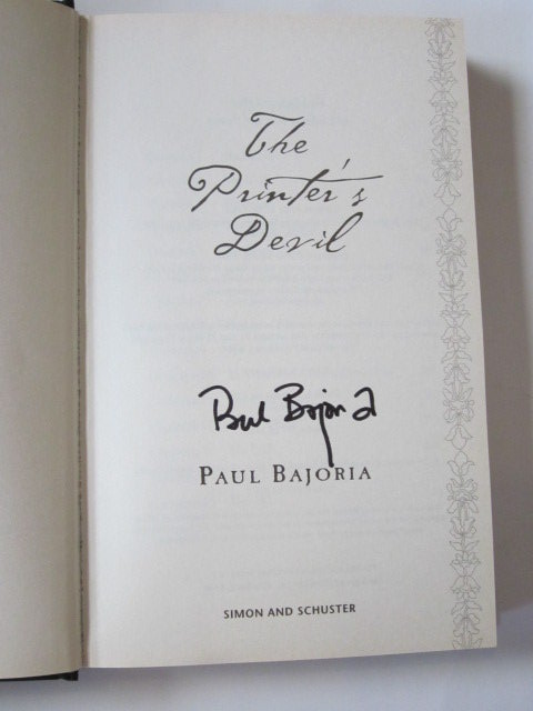 Photo of THE PRINTER'S DEVIL written by Bajoria, Paul published by Simon & Schuster (STOCK CODE: 1105740)  for sale by Stella & Rose's Books