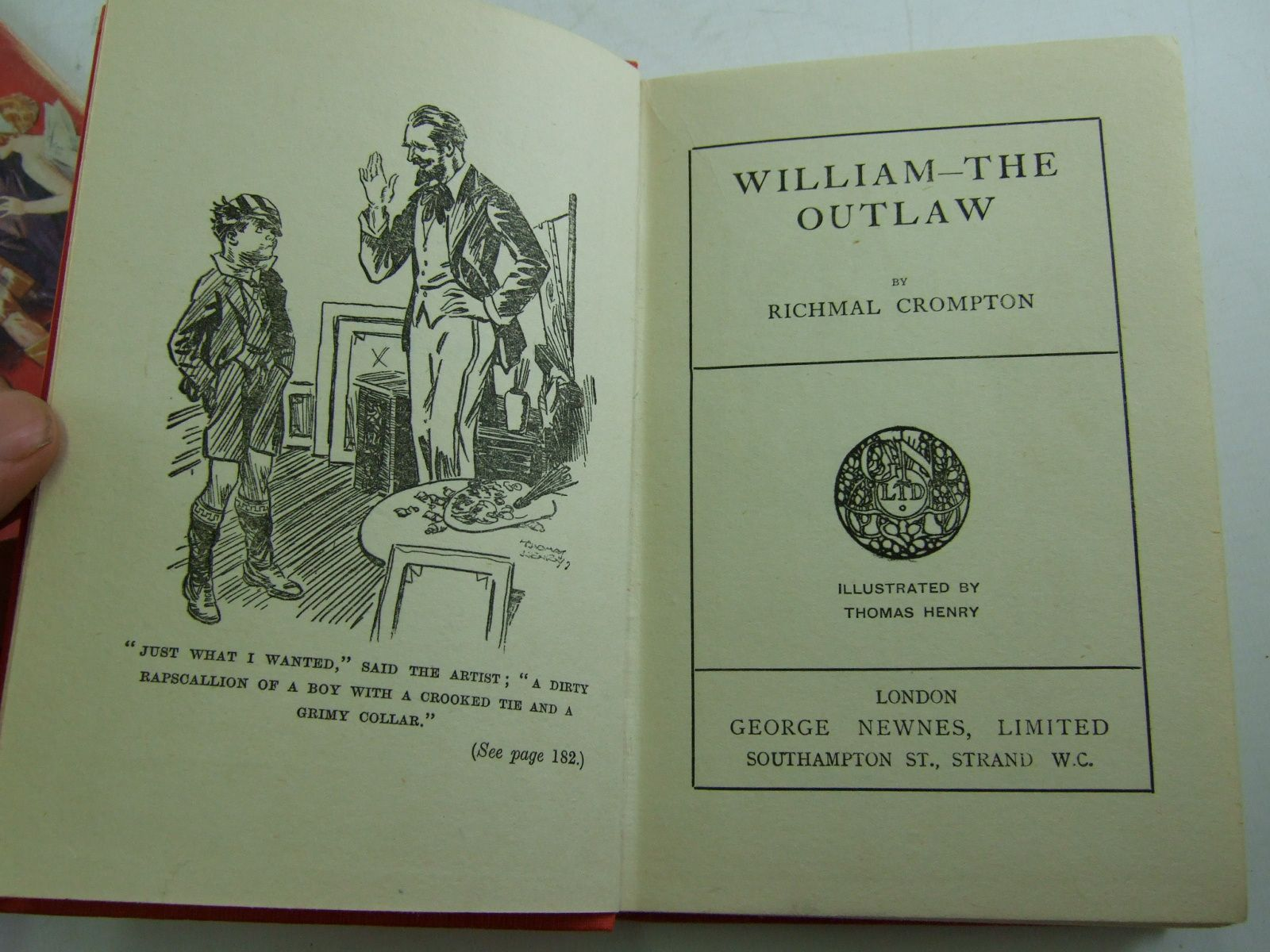 Photo of WILLIAM THE OUTLAW written by Crompton, Richmal illustrated by Henry, Thomas published by George Newnes Limited (STOCK CODE: 1107697)  for sale by Stella & Rose's Books