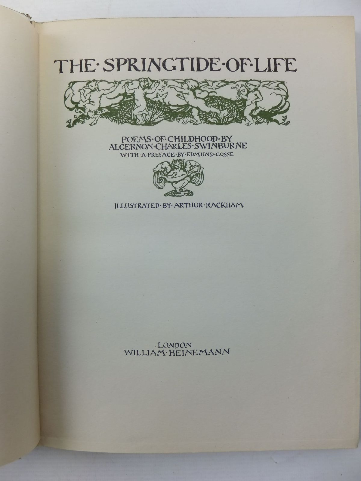 Photo of THE SPRINGTIDE OF LIFE written by Swinburne, Algernon C.