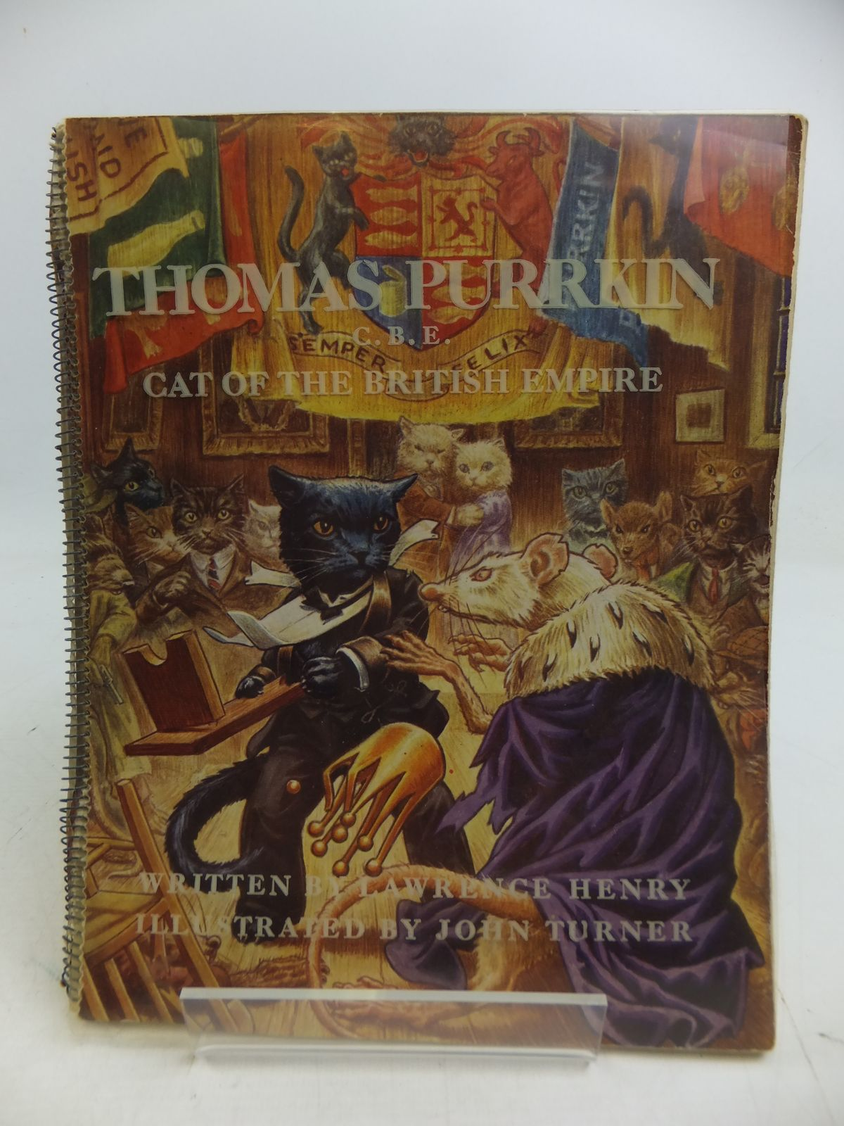 Photo of THOMAS PURRKIN, C.B.E. CAT OF THE BRITISH EMPIRE written by Henry, Lawrence illustrated by Turner, John published by Somers (STOCK CODE: 1108862)  for sale by Stella & Rose's Books