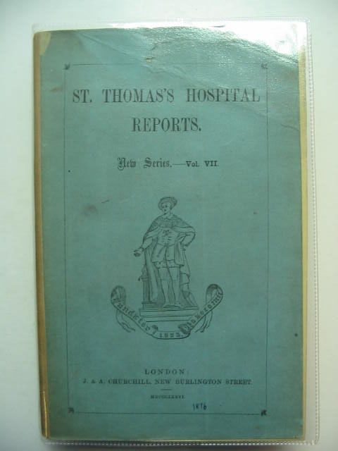 Photo of SAINT THOMAS'S HOSPITAL REPORTS VOL VII written by Bristowe, Dr. Stone, Dr. Croft, Mr. published by J. & A. Churchill (STOCK CODE: 1201171)  for sale by Stella & Rose's Books