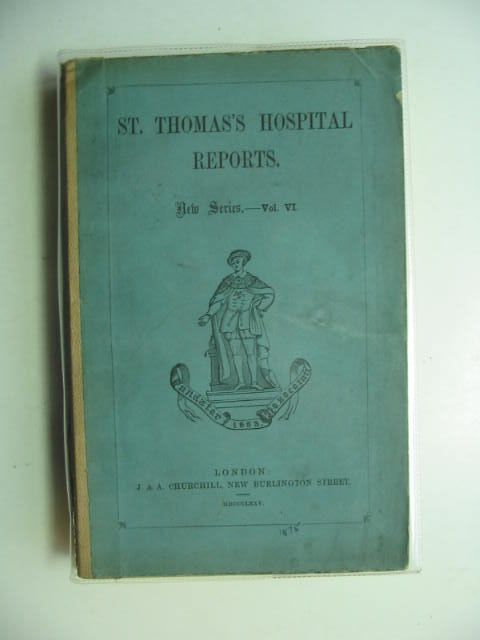 Photo of SAINT THOMAS'S HOSPITAL REPORTS VOL VI written by Bristowe, Dr. Stone, Dr. Croft, Mr. published by J. & A. Churchill (STOCK CODE: 1201172)  for sale by Stella & Rose's Books