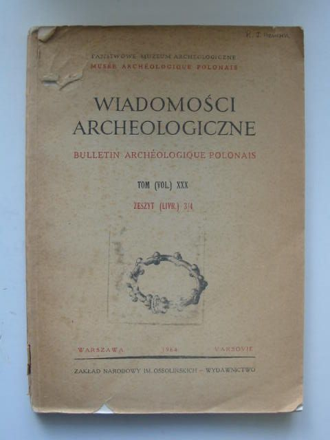 Photo of WIADOMOSCI ARCHEOLOGICZNE VOL XXX published by Panstwowe Muzeum Archeologiczne (STOCK CODE: 1202212)  for sale by Stella & Rose's Books