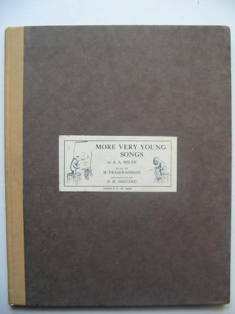 Photo of MORE VERY YOUNG SONGS written by Milne, A.A.<br />Fraser-Simson, H. illustrated by Shepard, E.H. published by Methuen &amp; Co. Ltd. (STOCK CODE: 1202339)  for sale by Stella & Rose's Books