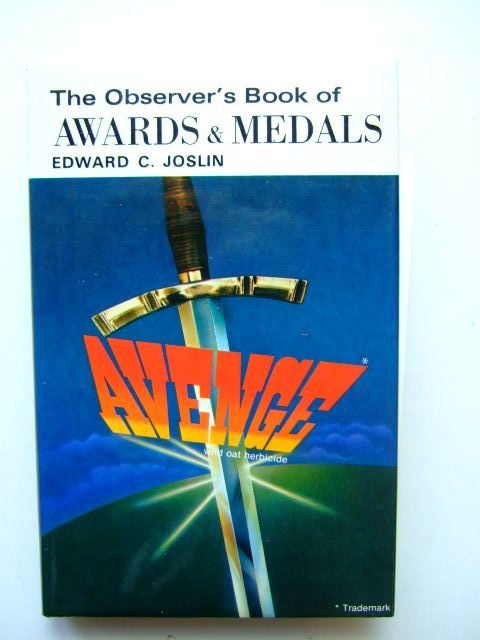 Photo of THE OBSERVER'S BOOK OF BRITISH AWARDS AND MEDALS (CYANAMID WRAPPER) written by Joslin, Edward C. published by Frederick Warne & Co Ltd. (STOCK CODE: 1203492)  for sale by Stella & Rose's Books
