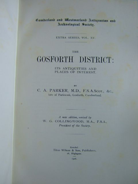 Photo of THE GOSFORTH DISTRICT written by Parker, C.A.