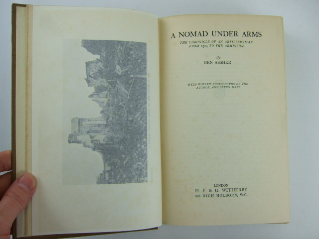 Photo of A NOMAD UNDER ARMS written by Assher, Ben published by H.F. & G. Witherby Ltd. (STOCK CODE: 1205805)  for sale by Stella & Rose's Books