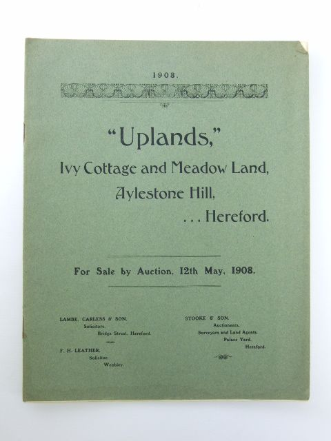 Photo of UPLANDS, IVY COTTAGE AND MEADOW LAND- Stock Number: 1205912