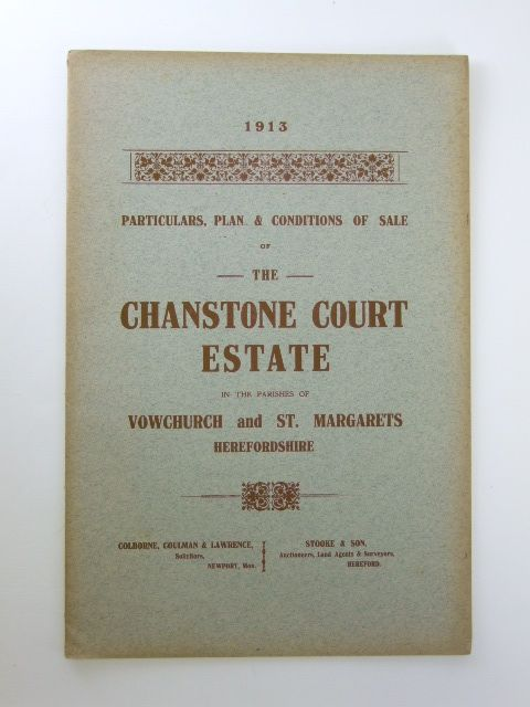 Photo of PARTICULARS, PLAN AND CONDITIONS OF SALE OF THE CHANSTONE COURT ESTATE- Stock Number: 1205918