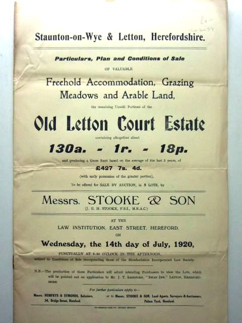 Photo of OLD LETTON COURT ESTATE REMAINING UNSOLD PORTIONS- Stock Number: 1206039