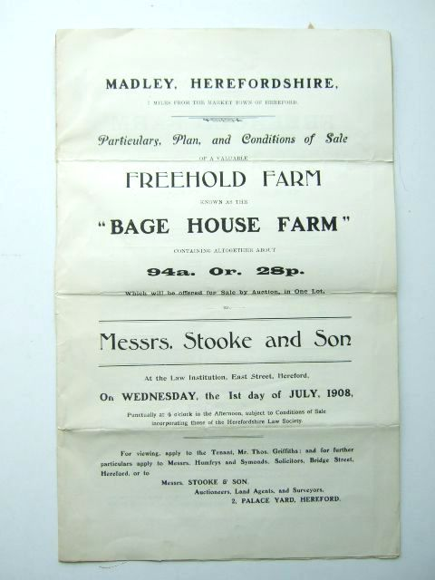 Photo of BAGE HOUSE FARM MADLEY HEREFORDSHIRE- Stock Number: 1206046