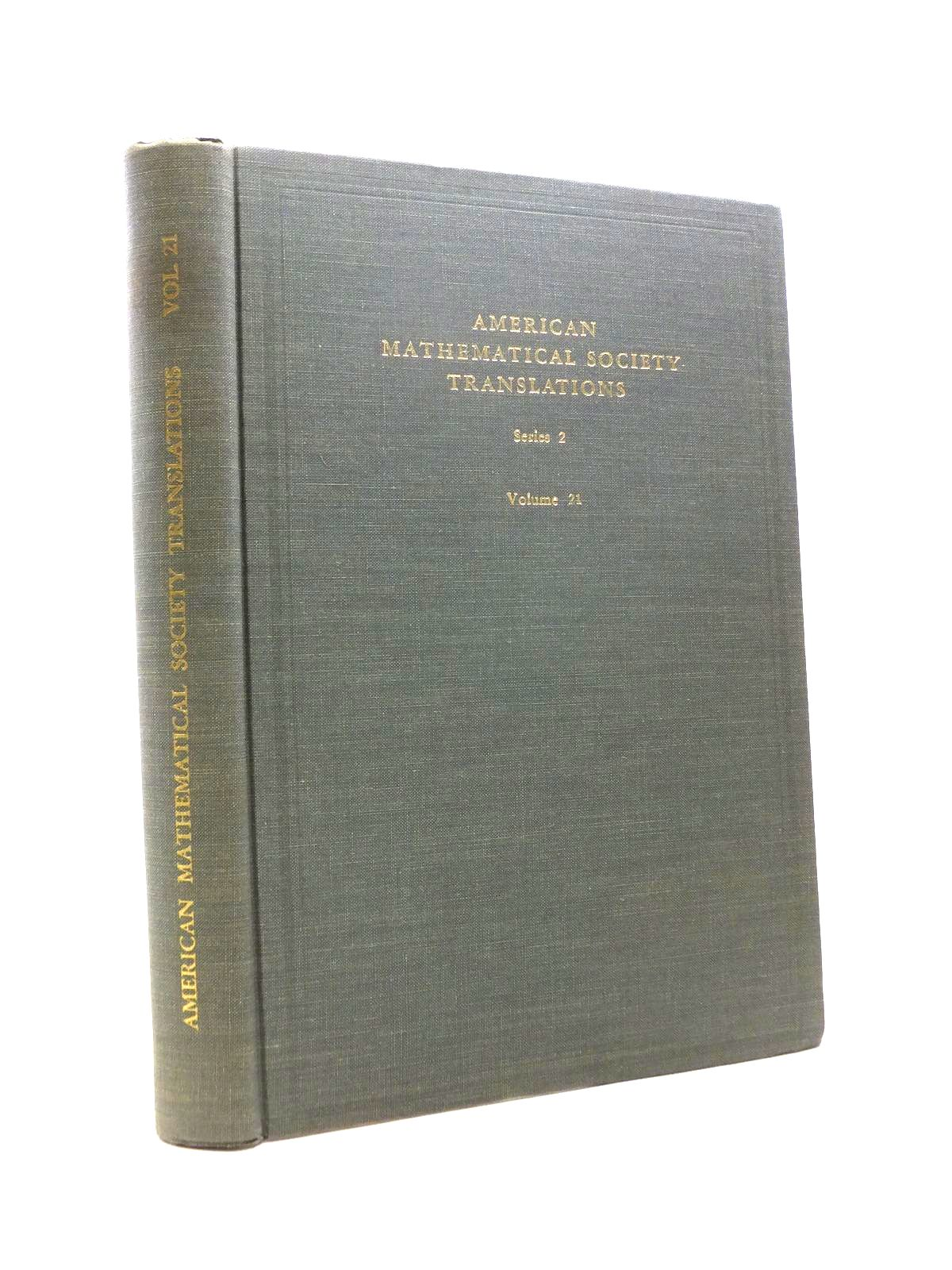 Photo of AMERICAN MATHEMATICAL TRANSLATIONS SERIES 2 VOLUME 21 written by Smirnov, Yu Dynkin, E.B. Berezin, F.A. et al, published by American Mathematical Society (STOCK CODE: 1208413)  for sale by Stella & Rose's Books
