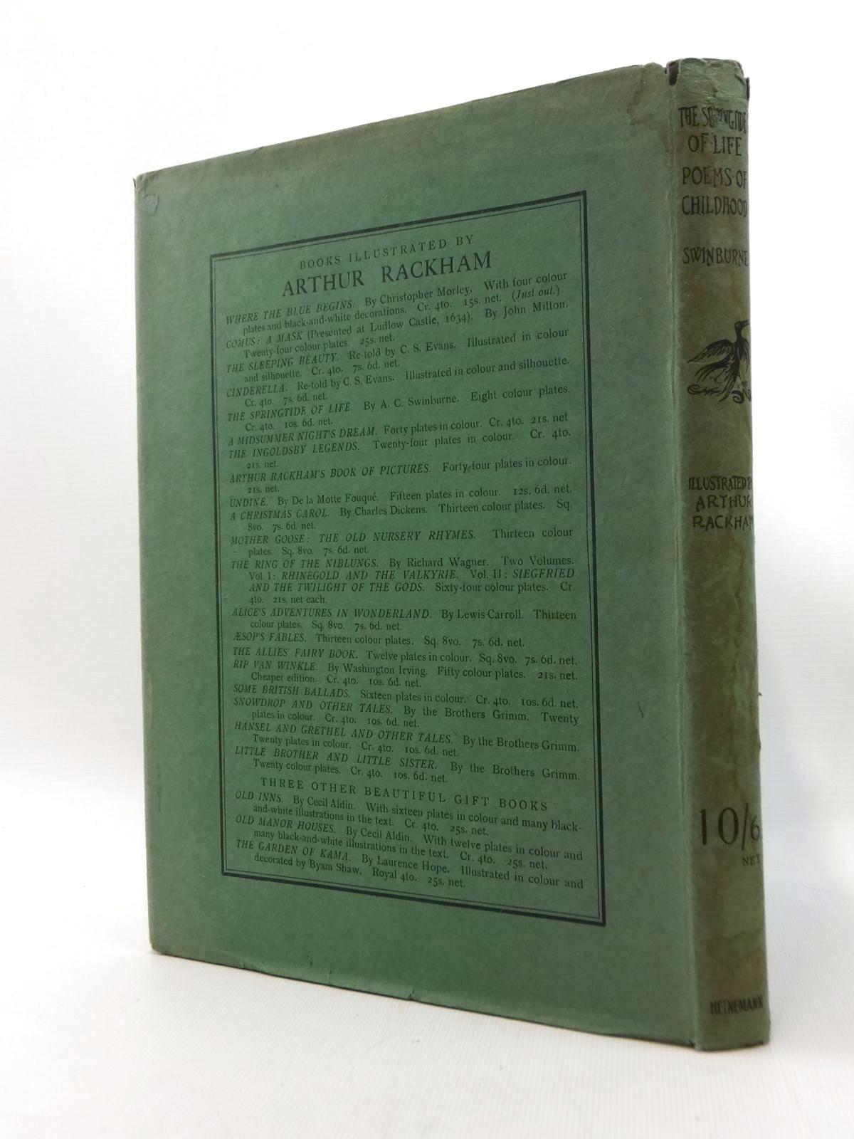 Photo of THE SPRINGTIDE OF LIFE written by Swinburne, Algernon C. Gosse, Edmund illustrated by Rackham, Arthur published by William Heinemann (STOCK CODE: 1208698)  for sale by Stella & Rose's Books