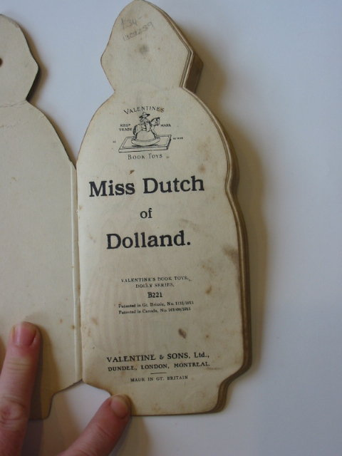 Photo of MISS DUTCH OF DOLLAND published by Valentine & Sons Ltd. (STOCK CODE: 1302259)  for sale by Stella & Rose's Books