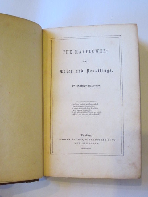 Photo of THE MAYFLOWER OR TALES AND PENCILINGS written by Beecher, Harriet published by Thomas Nelson (STOCK CODE: 1303356)  for sale by Stella & Rose's Books